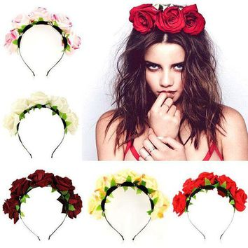 VONEW3J Rose Pedal Headband