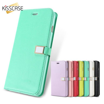 Luxury Candy Solid Color Leather Case For iPhone 7 7 Plus Book F c06734e2d