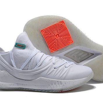 Under Armour Sc30 Stephen Curry 5 Low White Basketball Shoe