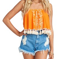 Sasha Swing Tassel Crop Top