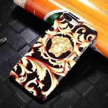 Perfect Versace Fashion Logo Print iPhone Phone Cover Case For iphone 6 6s 6plus 6s-plus 7 7plus