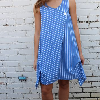 Cafe Tunic - San Tropez Stripe by Tulip Clothing
