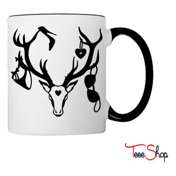 18 deer bachelor party fun funny love stag nigh Coffee & Tea Mug