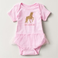 Funny Born to be a Unicorn Baby Bodysuit
