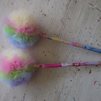 Disney Princess Pencils with Tulle POmPOm Toppers