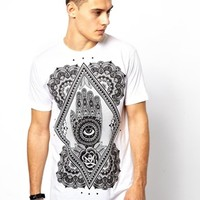Abandon Ship T-Shirt With Hand Of God Print
