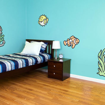 Funnest Under The Sea Set #2 -Large Wooden Boy Girl  Nursery Decor Idea
