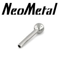 16 Gauge 16g NeoMetal Threadless Titanium Straight Barbell Shaft 1/8 Fixed Ball End Press-fit [XBBS 16 shaft only] - $9.99 : Diablo Body Jewelry, The Art of High Quality