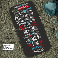 1D Lyrics Case Designed for iPhone 4/4s/5/5s/5c, Samsung Galaxy S3/S4, Galaxy Note 1/2/3, Nexus i9250, Grand i9082, Htc One X/M7