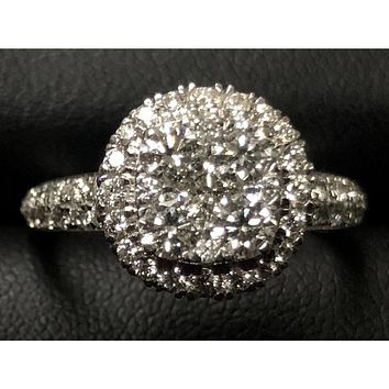 14kt White Gold with 1.5 ctw diamonds ring
