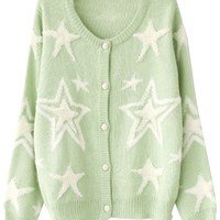 Starry Thermal Cardigan - OASAP.com