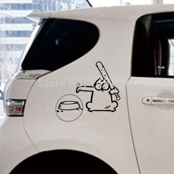 Simon S Cat Gas Tank Decal