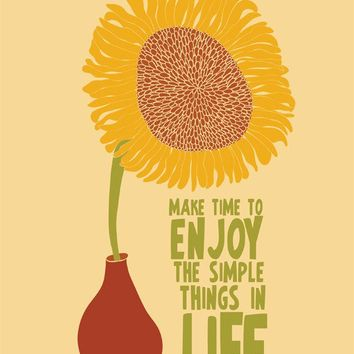 Motivational Quote, Inspirational Saying Art, Modern Art Print, Sunflower Poster, 8x10 Inspiring Quote