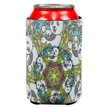 CREYCY8 Mandala Trippy Stained Glass Panda All Over Can Cooler