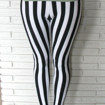 Vertical Stripe Leggings Cirque Aerial Stirrup by HarmonyThreads