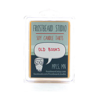 Old Books -- Book Lovers' Scented Soy Tart -- 3oz pack