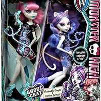 Monster High Ghoul Chat Doll 2-Pack Rochelle Goyle & Catrine DeMew