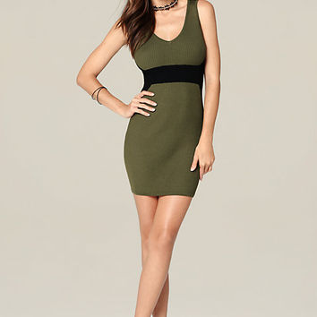 AUBREE DOUBLE V-NECK DRESS