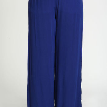Plus Size Crepe Wide Leg Pants