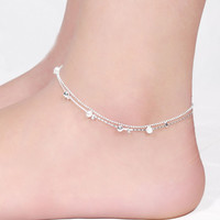 Jewelry Shiny Cute Gift Ladies Sexy New Arrival Korean Stylish Double-layered Lovely Anklet [8171772423]