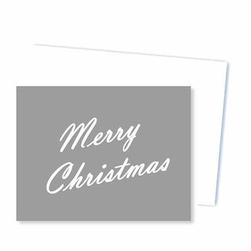 Printable Christmas card, Grey merry Christmas print new year holiday fall greeting card, blank card gift for men, Christmas note card