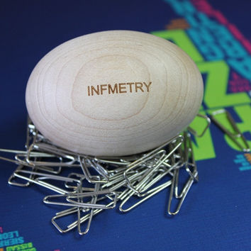 Wood Egg Paperclip Nest