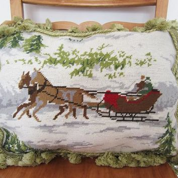 Italy pure cashmere wool hand-embroidered pillow cushion lumbar new year fancy holiday gifts home decor