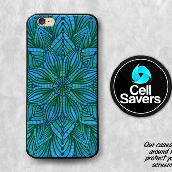 Mandala iPhone 6s Case iPhone 6 Case iPhone 6 Plus Case iPhone 6s Plus iPhone 5c Case iPhone 5 Aqua Blue Teal Indian Style Boho Mandala Art