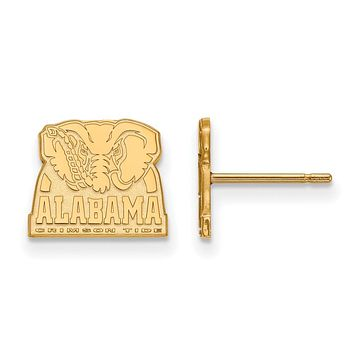NCAA 14k Gold Plated Silver University of Alabama XS Post Earrings