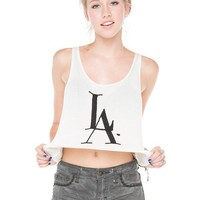 Brandy ♥ Melville |  LA Love Embroidery Tank - Graphics