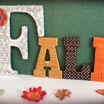 Fall Decor-Decorative Letter Set by Tightly Wound Designs