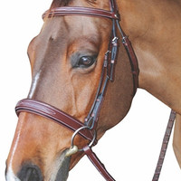 Henri de Rivel Mono Crown Bridle with Padded Wide Noseband