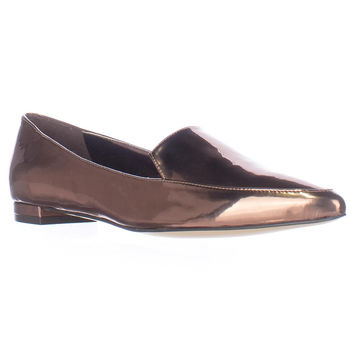 Nine West Abay Pointed Toe Loafer Flats - Bronze