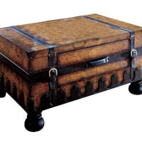 Heritage Vasco Old World Map Trunk Table