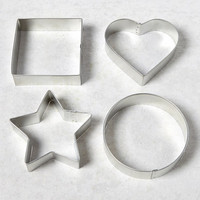 R&M Four-Piece Steel Shapes Sandwich Cutter Set | zulily