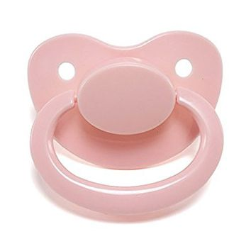 LittleForBig Adult Sized Pacifier Dummy for ADULT BABY ABDL BigShield Pink