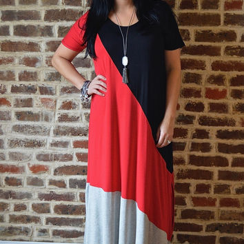 Black Slanted Maxi Dress
