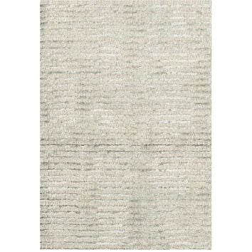Cut Stripe Silver Hand Knotted Rug