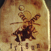Trigun inspired Woodburning (pyrography) plaque