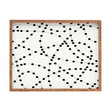 Holli Zollinger Dotted Black Line Rectangular Tray