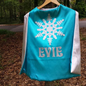 Frozen Elsa Cape Personalized Cape Option To add A Name Superhero Cape Princess Elsa Cape Birthday Gift