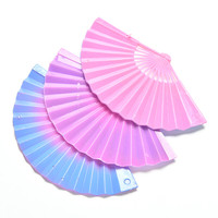 1 PCS Gradient Fan for Barbies Dolls Accessories Dollhouse Furniture Kids Gifts Color Random