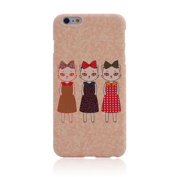 I am a Cat Sister Creative Handmade iPhone creative cases for 5S 6 6S Plus