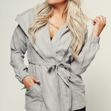 Be My Best Hooded Jacket (Grey)