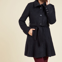 Cozy About Me Coat in Navy