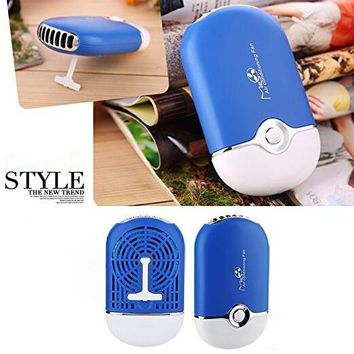 Portable Summer  Mini Air Conditioner Travel Handheld USB Rechargeable Cooling Fan