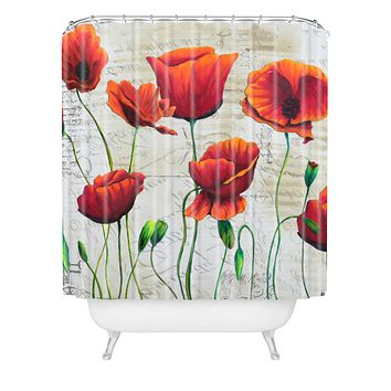 Madart Inc. Soft Wind Blowing Shower Curtain
