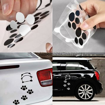 Car Sticker Lovely Naughty Panda Footprint Decals Cartoon Bear Dog Paw Styling DIY Stickers Reflective Waterproof Decal Stickers
