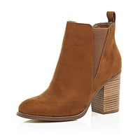 Tan heeled Chelsea boots - chelsea boots - shoes / boots - women
