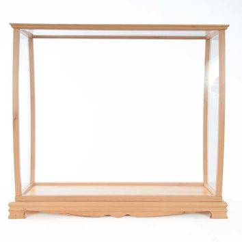 Display Case for Midsize Tall Ship Clear Finish Hancrafted Display Cases